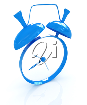 Alarm clock. 3D icon on a white background