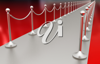 3d illustration of path to the success on a white background