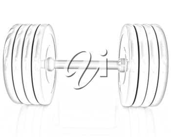 Colorful dumbbell on a white background