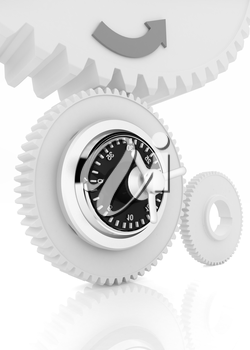 gears with lock