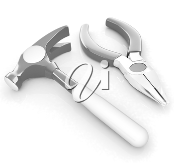 pliers and hammer