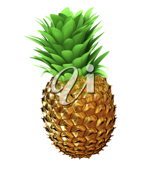 Abstract gold pineapple