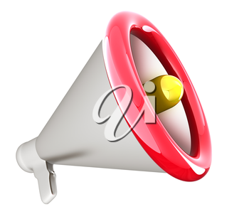 Loudspeaker as announcement icon. Illustration on white