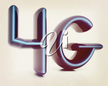 4g internet network. 3d text. 3D illustration. Vintage style.