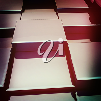 Abstract urban background (close-up). 3D illustration. Vintage style.