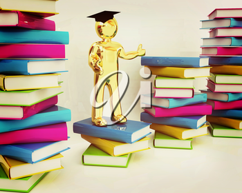 The world is opened for you. Global Education on a white background. 3D illustration. Vintage style.