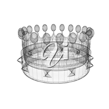 Crown. 3D illustration