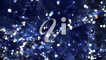 Abstract network background. 3D illustration