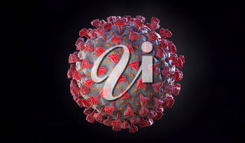 Illustration of Coronavirus. Clipping path included. 3D illustration