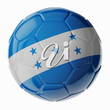 Football/soccer ball with flag of Honduras. 3D render
