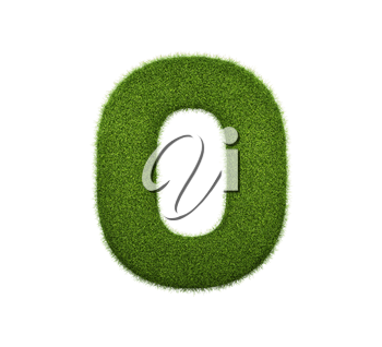 3d render of grass numbers