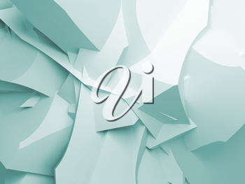 Abstract digital 3d curved chaotic polygonal surface background texture