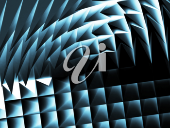 Abstract dark blue cg background, geometric pattern. 3d illustration