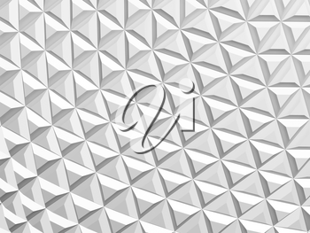 Abstract background with parametric white mosaic pattern, 3d rendering illustration