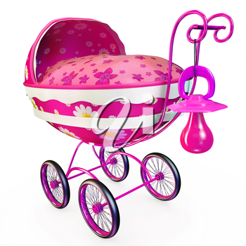 Made in fine shape pink baby wagon