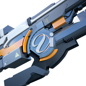 Nice and ergonomic assault rifle for futuristic war