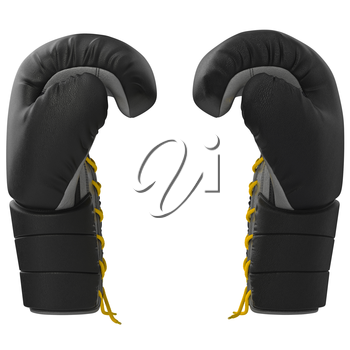 Sport boxing glove side view. 3D graphic object on white background isolated