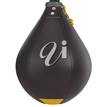 Mounting system for expressway punching bag, close view. 3D graphic object on white background