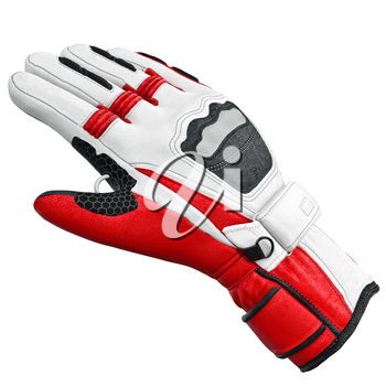 Sports glove isolated on white background. 3D graphic