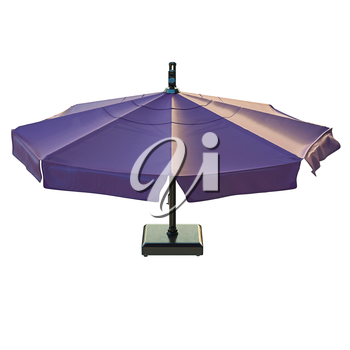 Patio umbrella for relax, top view. 3D graphic
