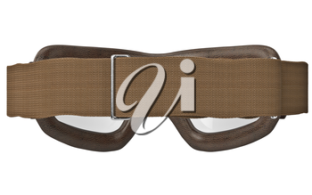 Brown glasses matte strap classic, back view. 3D graphic