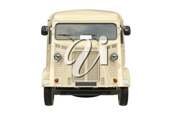 Food truck eatery, front view. 3D graphic