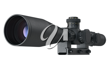 Scope optical weapon accuracy device. 3D graphic