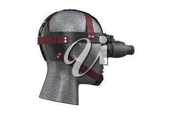 Night vision military professional aiming. 3D rendering