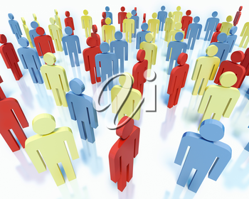 Crowd of colorful people - business team concept