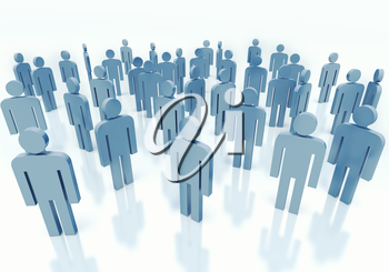 Gray crowd of people, concept of business team