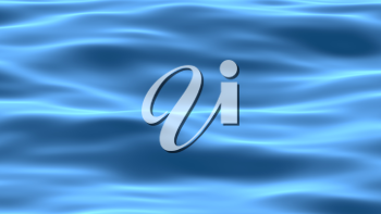 Blue smooth abstract water surface waves background