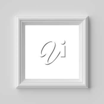 White blank square frame for photo on white wall with shadows with copy-space, white colorless picture frame template, art frame mock-up 3D illustration