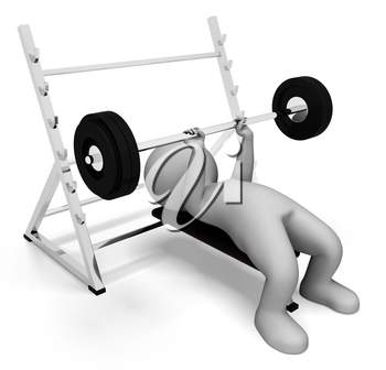 Weight Lifting Meaning Workout Equipment And Macho 3d Rendering