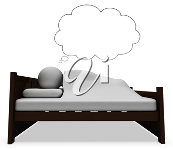 Sleep Dream Meaning Go To Bed And Good Night 3d Rendering