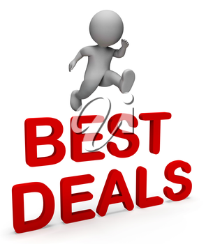 Best Deals Showing Price Illustration And Savings 3d Rendering