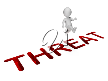 Overcome Threat Showing Breakthrough Difficulties And Ultimatum 3d Rendering