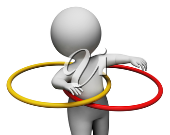 Hula Hoop Indicating Working Out And Training 3d Rendering