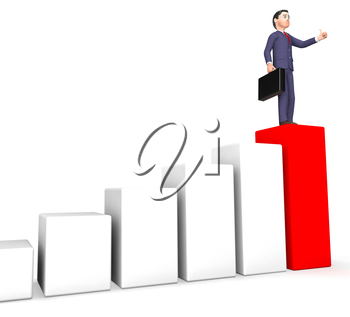 Businessman Profits Indicating Success Successful And Lucrative 3d Rendering