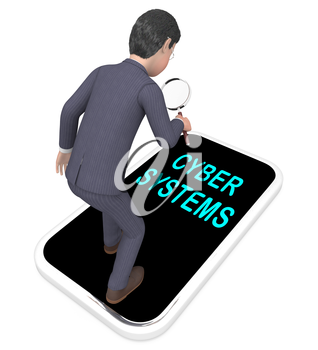 Cyber Physical Systems Bot Interaction 3d Illustration Shows Future Digital Evolution For Manufacturing Process And Production