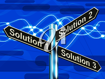 Solution 1 2 or 3 Choice Shows Strategy Options Decisions 3d Illustration