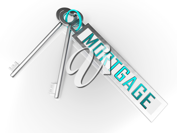 Morgage Or Mortgage Offer Key Depicting Credit For Buying Real Estate. Finance To Buy Property For Investment - 3d Illustration