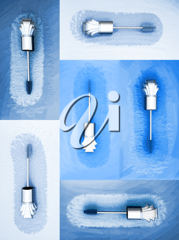 Mascara brush collection on color background. Each one is shot separately.