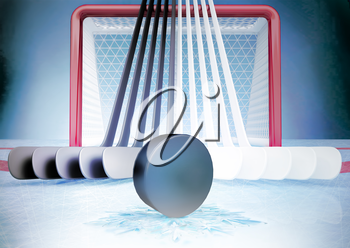 Concept of ice hockey.