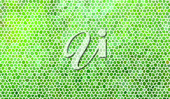 Abstract stone mosaic in green colors with white joints.