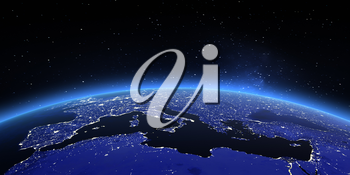 Europe. Elements of this image furnished by NASA 3d rendering