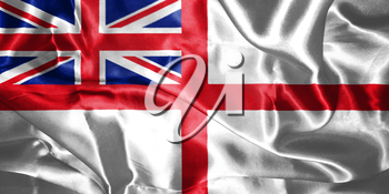 Variant Flag of the United Kingdom of Great Britain and Northern Ireland. Naval Ensign 3D illustration